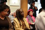 Commissioner-elect Jo Ann Hardesty at a City Council hearing on Mayor Ted Wheeler's proposed ordinance giving him the power to dictate the location and duration of some protests in town, Thursday, Nov. 8, 2018, Portland, Oregon.