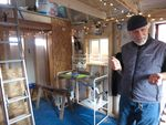 Michael Kuhn is putting power, water and a sleeping platform in his garden shed so it can be used as shelter after an emergency.