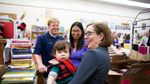 Gov. Kate Brown visits Waucoma Books in downtown Hood River.