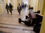 Rioters damaged the U.S. Capitol building after they breeched security and entered the building during a session of Congress. Lawmakers and other workers in the building had to hide for hours before heavily armed police cleared the building.