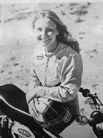 """""""I didn't really realize or understand what I was doing in motorsports for women,"""" says Debbie Lawler, pictured here in her signature leather jumpsuit. """"I was just so thankful and so happy to be doing something that I loved."""""""