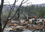 Remains of the devastation from the 2020 Beachie Creek Fire are still evident in the small town of Gates, Feb. 26, 2021.