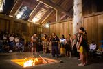 Māori visitors from New Zealand perform to open cultural sharing night at Wellness Warrior Camp.