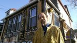 Milford Graves, circa 2000, in front of his house in South Jamaica, Queens, N.Y.