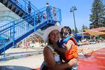 Four-year-old Kai cools off with her mother Elizabeth Banderas at the Juniper Swim and Fitness Center in Bend on June 30, 2021.