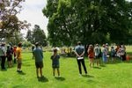 """Saturday's event at Colonel Summers Park in Southeast Portland was part of a national """"Day of Action"""" to support teaching history and speak out against legislation that limits teaching about racism and related topics."""