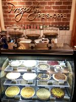 The pie case at Prosperity Pie Shoppe in Multnomah Village, before COVID-19 restrictions prompted it to close.