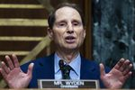 Sen. Ron Wyden, D-Ore., speaks during a Senate Finance Committee hearing on the IRS budget request on Capitol Hill in Washington, Tuesday, June 8, 2021. (Tom Williams/Pool via AP)