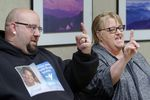 Jenoah Donald's mother Sue Zawacky and brother, Josh (no last name given) talk about Donald's life and death during an interview on Feb. 27, 2021, in Hazel Dell. Donald was shot in the head by a Clark County sheriff's deputy during a traffic stop on Feb. 4, 2021.