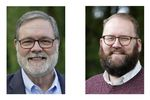 U.S. Rep. Denny Heck, D-Wash., left, and Washington Sen. Marko Liias, D-Lynnwood, right, are shown in this combination of photos taken Oct. 7, 2020 in Olympia, Wash., and Oct. 19, 2020 in Lynnwood, Wash.