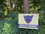 """A sign near Rigler Elementary in Northeast Portland reads, """"Rigler Unidos!"""" or """"Rigler United!"""" in English. The school is a dual language immersion school."""
