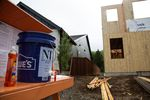 A home is under construction in Ridgefield in May. Homebuilders say they sales are going well during the pandemic, but are less certain about the future.