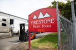 The sign outside FIrestone Pacific Foods pictured on June 8, 2020. The company had one of the largest outbreaks in the Portland metropolitan area in mid-May.