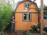 Michael Kuhn turned his garden shed into an earthquake emergency shelter.