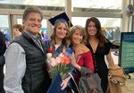 Left to right: Scott, Audrey, Janine and Kelsey Ellis in 2019. Audrey graduated with honors and received a perfect score on her nursing licensure exam. After her death, her family established the Audrey Marie Ellis Foundation, which aims to financially support aspiring health care workers.