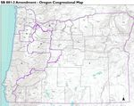 The final congressional boundaries approved by the Oregon Legislature on Sept. 27, 2021.