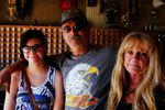 """Kacie and Steven Price, and Linda Weymeyer at Perrin's Past and Present antique shop. Steven said he wasn't looking to buy anything specific, but had come to barter. """"I just like to trade and I like the company."""""""