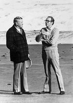 Gov. Tom McCall (left) and State Treasurer Bob Straub, pictured at an undisclosed location on the Oregon Coast in this undated photo, were leading figures in the effort to protect Oregon's beaches.