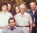 The Serrill family. Jim is in the front row, behind him to his left is his father.