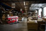 Furniture is displayed at America The Beautiful Dreamer in Vancouver, Wash., Thursday, June 27, 2019. Oregon shoppers will no longer receive exemptions from Washington's sales tax, which has some business owners worried about losing customers.