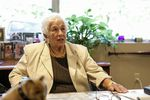 Former Columbia Sportswear Company Chairwoman Gert Boyle sits in her office in this Sept. 29, 2015, file photo. Boyle, who took over leadership of the company when her husband died in the 1970s, died Sunday, Nov. 3, 2019, at the age of 95.