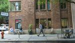 In J Coffee, in Portland, June 8, 2021, is located on the Park Blocks near Portland State University. At the start of the pandemic sales plummeted but have slowly been improving as weekend visitors are returning.