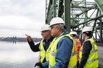 Oregon and Washington legislators toured the Interstate 5 Bridge before their committee meeting on replacing the bridge.