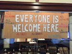 Portland's Cleveland High School hangs a message of welcoming, as students return from the Veterans Day break, Nov. 14, 2016.