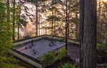 The Sand and Stone Garden is a place for contemplation and the most abstract of the garden styles represented at the Portland Japanese garden.