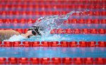 U.S.'s Kathleen Ledecky competes in the final of the women's 1500m freestyle swimming event on July 28, 2021. Ledecky finished in first place, forming a 1-2 with Erica Sullivan for the U.S.
