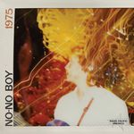 """The album cover for No-No Boy has the name of the band, the name of the album, """"1975,"""" and a Polaroid-photo-style image of an Asian-American man with the words """"Asian Pacific America"""" imprinted in the lower corner."""