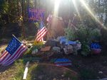 Since Finicum's death in January, supporters have decorated the site with flags, rocks, balloons and flowers. The Forest Service says such impromptu memorials are prohibited.