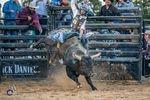 Najiah Knight competing on a mini bull