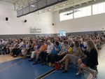 Oregon Sen. Ron Wyden was greeted by a packed gymnasium for his Sunday afternoon Town Hall in Beaverton. Gun reform dominated the two-hour long meeting.