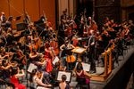 Music director David Danzmayr leads members of the Oregon Symphony orchestra in a live concert at the Arlene Schnitzer Concert Hall.