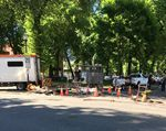 Workers attempt to restore power Tuesday at the source of an outage in downtown Portland. The outage disrupted MAX service and left more than 2,000 customers without power.