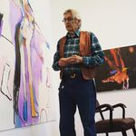 The artist Rick Bartow, surrounded here by his stunning paintings, passed on Apr. 2.