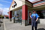 Nick Jones, an employee at the Burgerville location on Portland's SE 92nd Avenue and Powell Boulevard, voted in favor of forming a union.