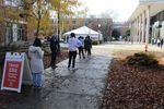 Students line up at Oregon State University for coronavirus testing before traveling for Thanksgiving.