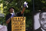 "Portland-based poet Emmett Wheatfall reads his poem ""An Ellegy For George Floyd"" at the NAACP's Eulogy for Black America."