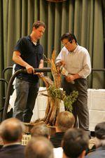 "Neil with his teacher, famed Japanese bonsai master Masahiko Kimura. He was known as the ""Magical Technician of Kindai Shuppan."""