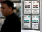 Packages of Juul mint flavored e-cigarettes are displayed at San Rafael Smokeshop in 2019 in San Rafael, California.