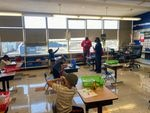 Gov. Kate Brown visits Scott Elementary students on the first day of hybrid learning April 1, 2021.