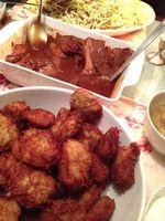 Potato latkes & braised brisket