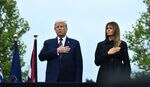 President Trump and first lady Melania Trump attend a ceremony commemorating the 19th anniversary of the Sept. attacks in Shanksville, Pa., on Friday.