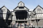 OSF's Allen Elizabethan Theater will open its doors to live performances on July 1. Featured in the photo is the 2012 set and ensemble of Henry V.