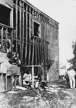 A building that burned during the 1967 protests that historians call the Albina riot.