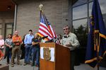 Head of the U.S. Forest Service Tony Tooke speaking at a press conference in Troutdale Sept. 9, 2017.