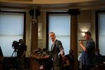 Portland Mayor Ted Wheeler addresses a fatal shooting tied to protests during a press conference at City Hall in Portland, Ore., Aug. 30, 2020. One person was shot and killed as a pro-Trump car caravan rolled through town the previous evening.