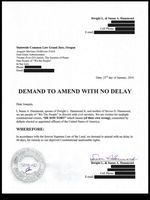 An extralegal document drafted by Joaquin Mariano DeMoreta-Folch and signed by Susan Hammond, the wife and mother of Harney County ranchers Dwight and Steven Hammond.